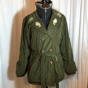 Bogner Vintage Green Embroidered Ski Jacket Size 8